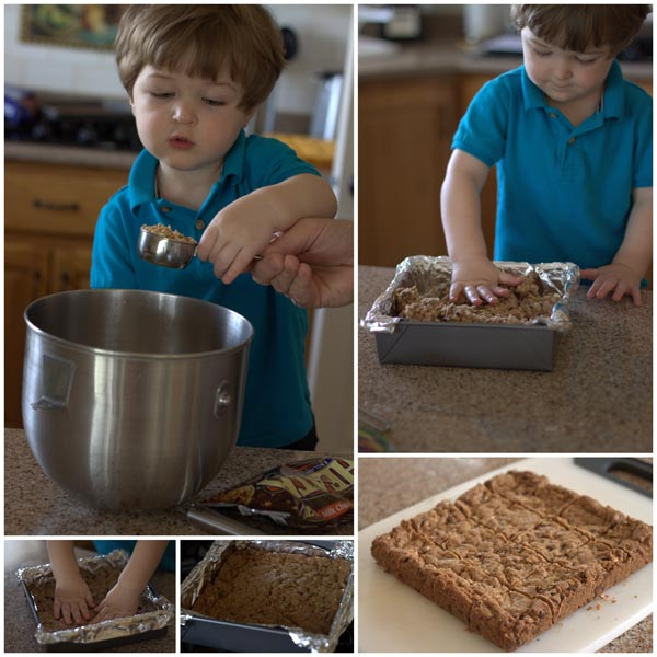 Making Granola Chocolate Chip Toffee Bars