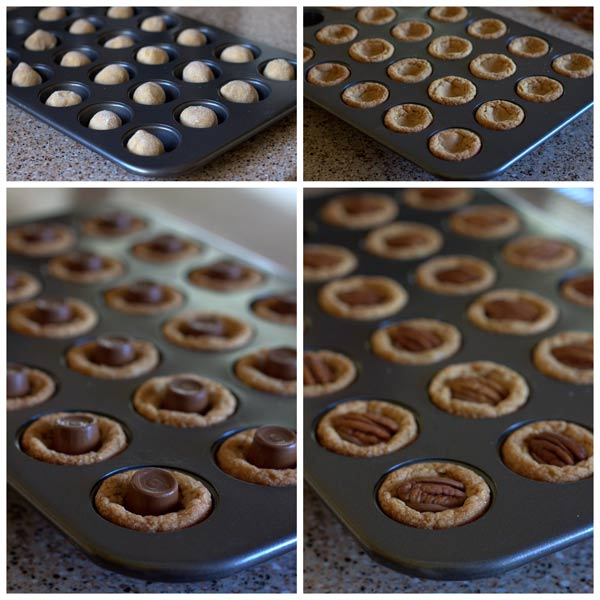 How to make Turtle Peanut Blossom Cookie Cups