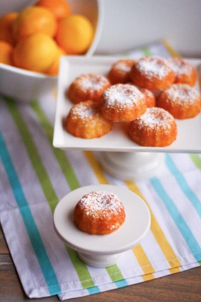 Mini Meyer Lemon Bundt Cakes, The Little Kitchen