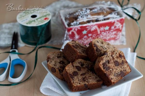 Brown Sugar Banana Bread with Pecans and Chocolate Chips @BarbaraBakes.com