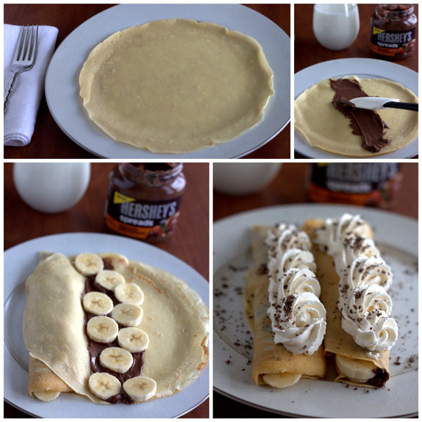 Making Chocolate Banana Crepes @BarbaraBakes.com