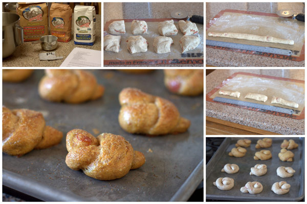 Whole Wheat Pepperoni Pretzel Knots Collage @Barbara Bakes