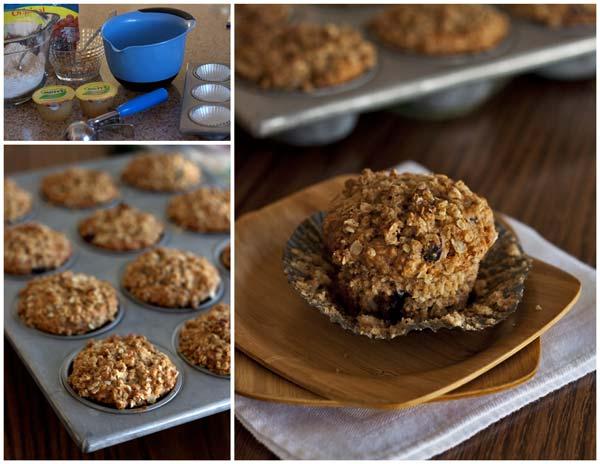 Making Applesauce Cinnamon Oat Muffins