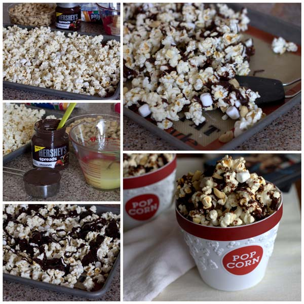 How to Make Easy Rocky Road Popcorn @BarbaraBakes.com #snacks