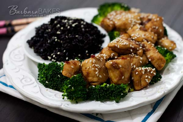 Easy Spicy Orange Chicken Recipe @ Barbara Bakes
