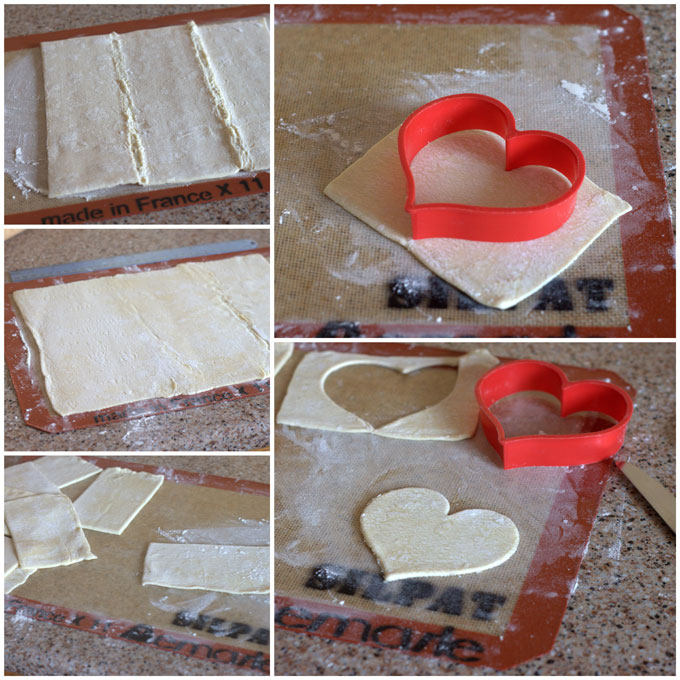 Heart Shaped Cherry Hand Pie Recipe Collage