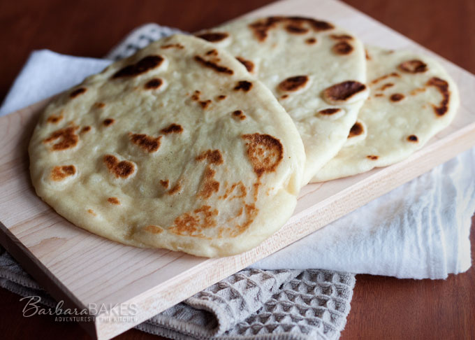 Easy to make naan indian flatbread recipe barbara bakes naan indian flatbread forumfinder