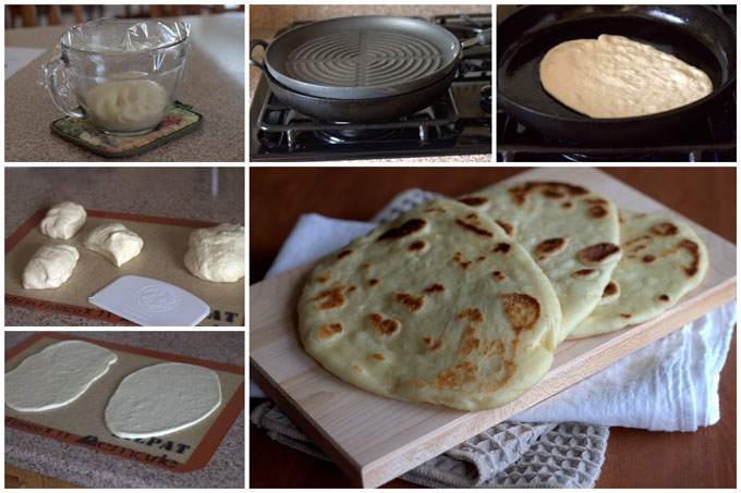 Naan - Indian Flatbread Collage