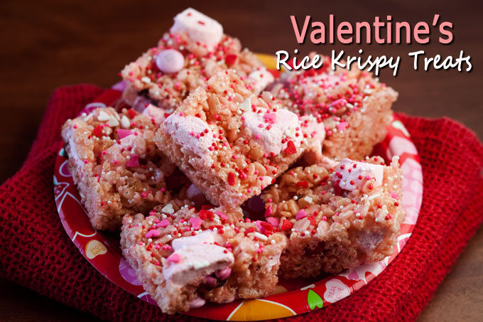 valentine rice krispy treat recipe | barbara bakes, Ideas