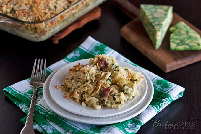 Baked Sage Derby Macaroni and Cheese from Barbara Bakes