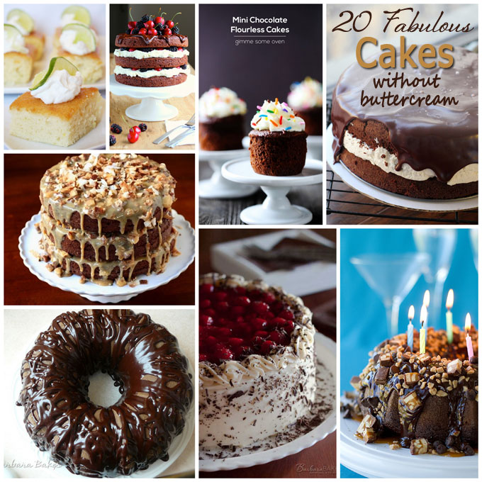 Charming Cakes Without Buttercream Collage