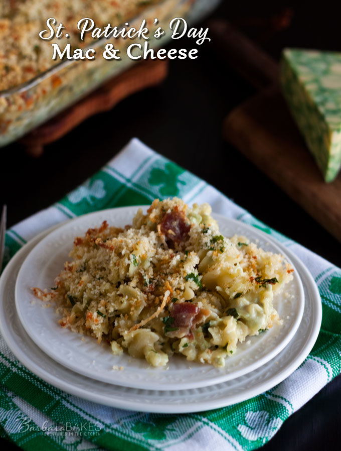 Baked Sage Derby Macaroni and Cheese for St. Patrick's Day
