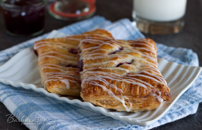 Puff Pastry Raspberry Hand Pies from Barbara Bakes