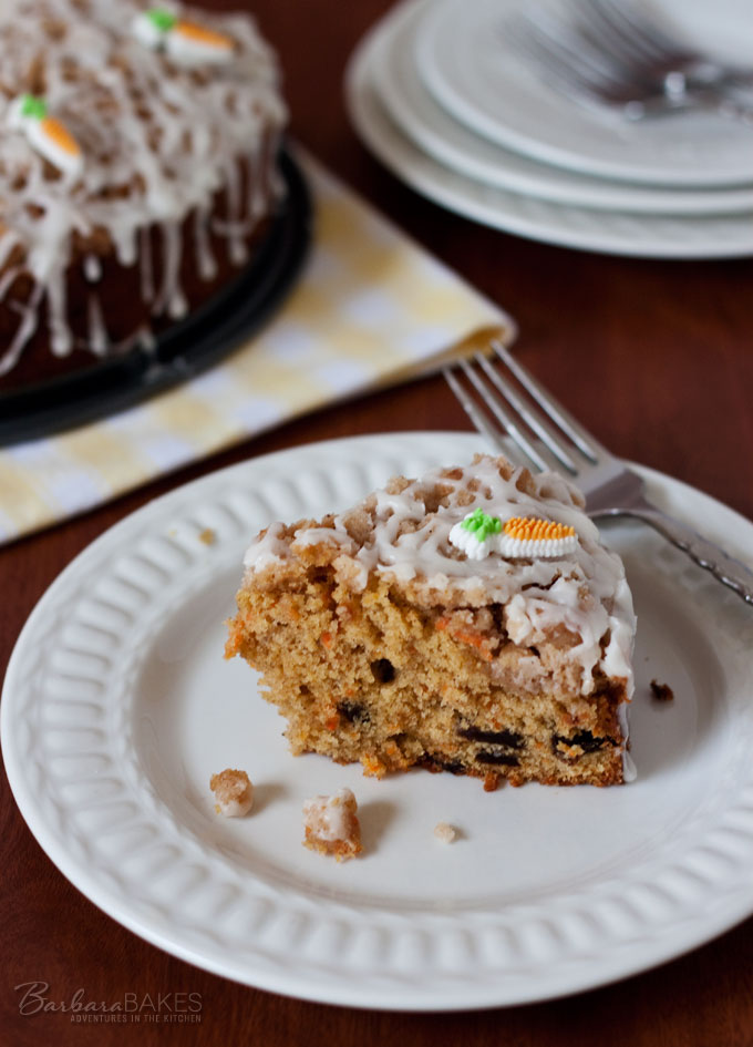 Carrot Raisin Coffee Cake Recipe from Barbara Bakes