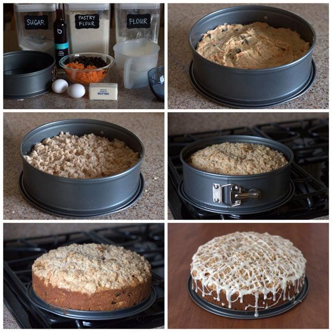 Carrot Raisin Coffee Cake from Barbara Bakes
