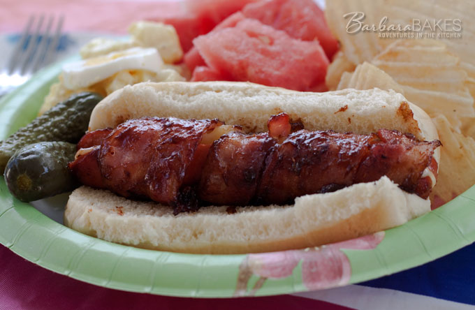 BBQ-Bacon-Wrapped-Hot-Dogs-Barbara-Bakes