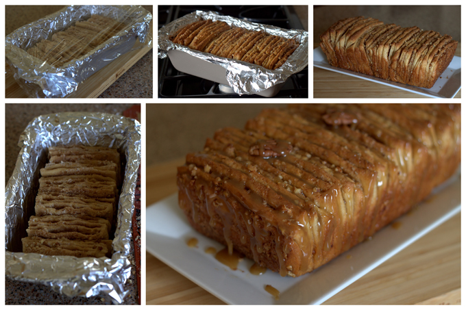 Baking Whole Wheat Caramel Pecan Pull-Apart Bread