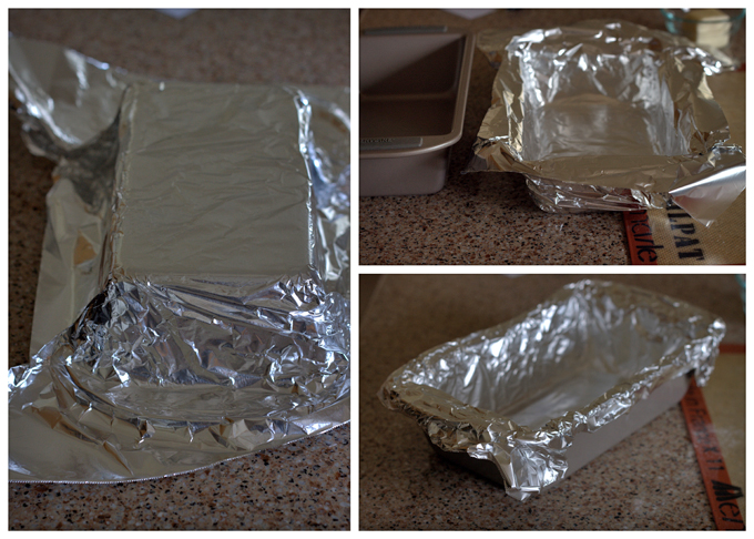 Lining a Loaf Pan with Foil