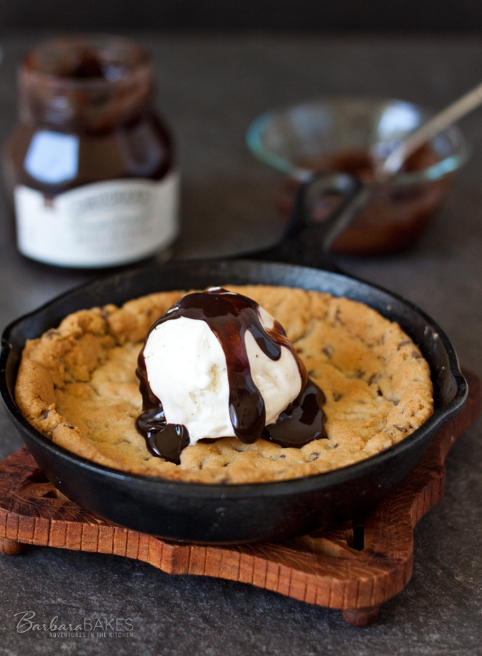 Mini Coconut Chocolate Chip Skillet Cookie from Barbara Bakes