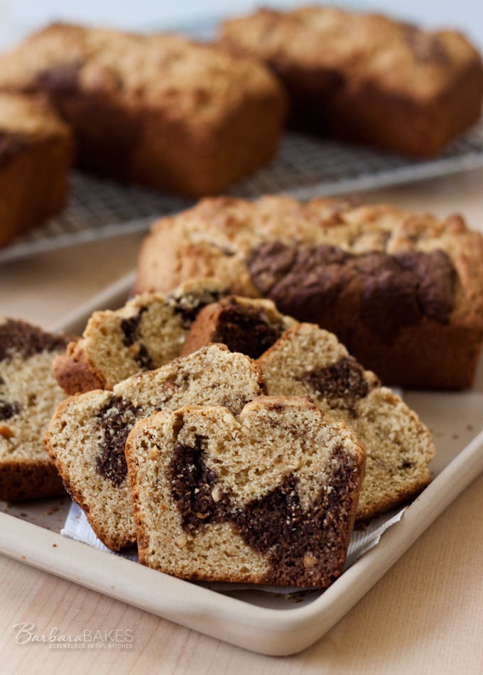 Peanut Butter Chocolate Swirl Bread Recipe from Barbara Bakes