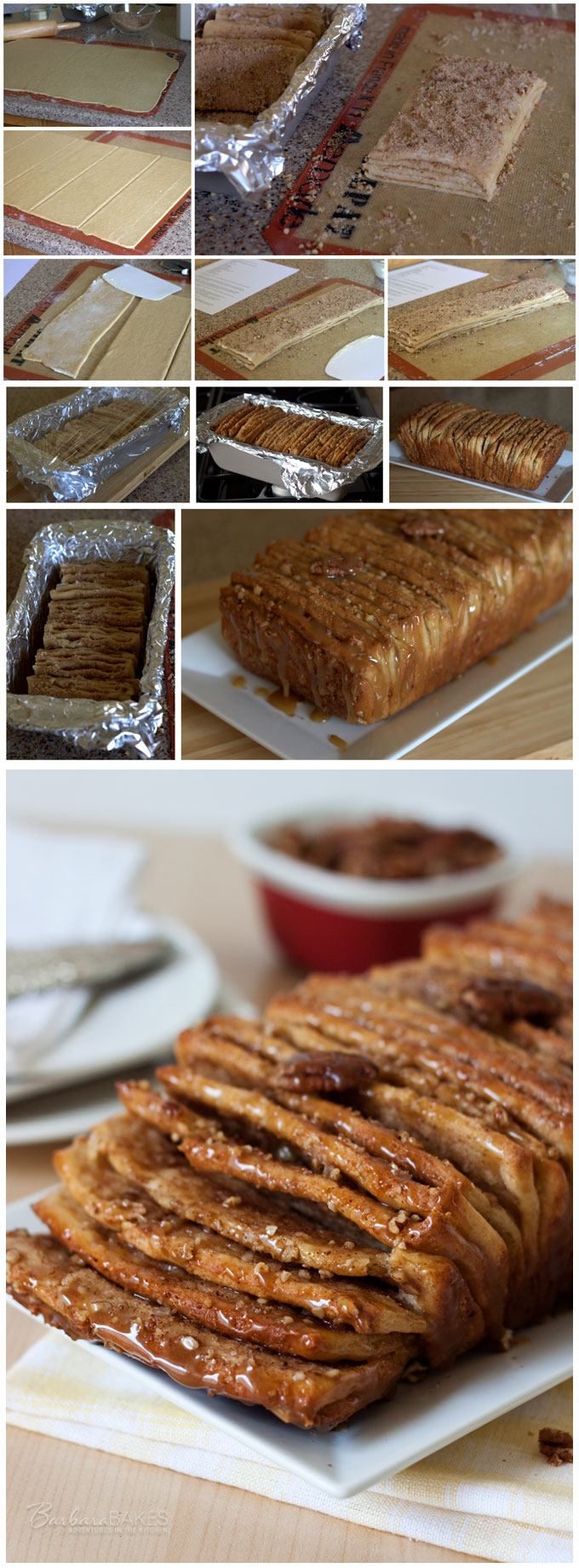 How to Make Whole Wheat Caramel Pecan Pull-Apart Bread