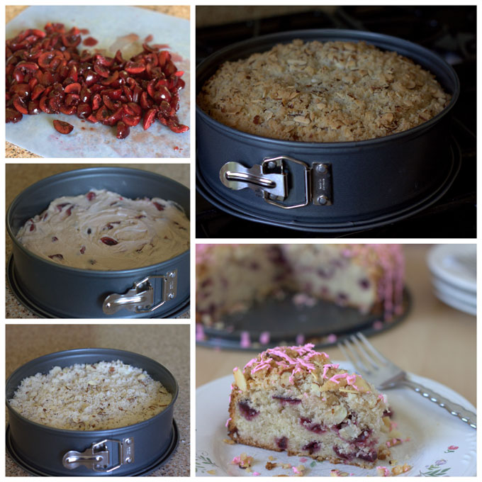 How to Make a Fresh Cherry Almond Streusel Coffee Cake