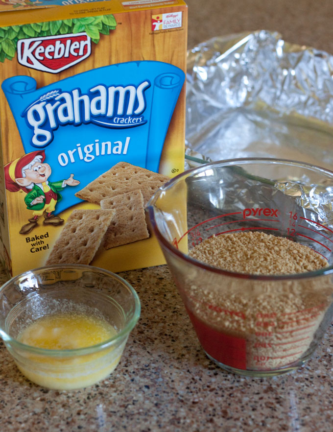 Making a graham cracker crust