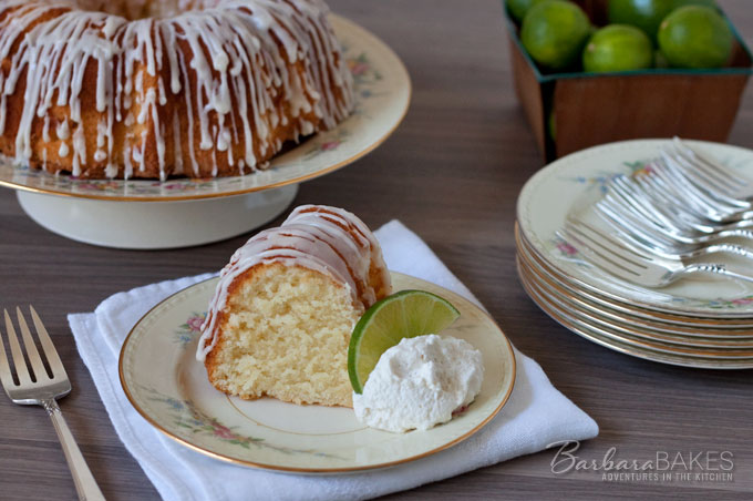 Key Lime Pound Cake recipe from Barbara Bakes. A delicious Southern twist to a traditional pound cake.