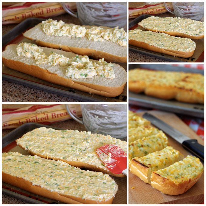 Making Black Angus Three Cheese Garlic Bread