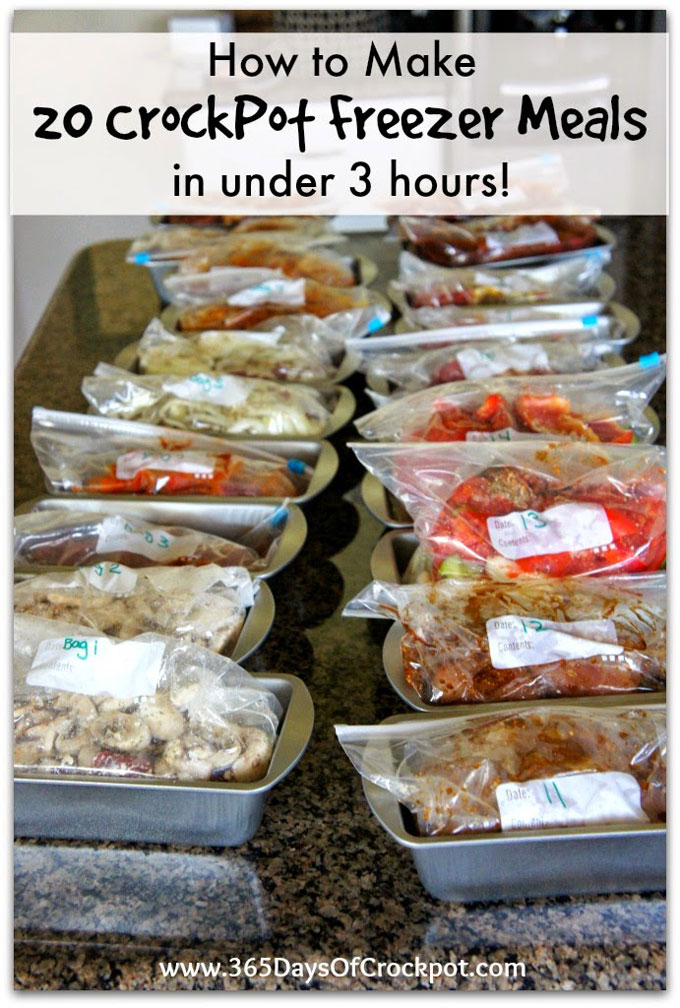 How to Make 20 Crockpot Freezer Meals in under 3 hours eBook