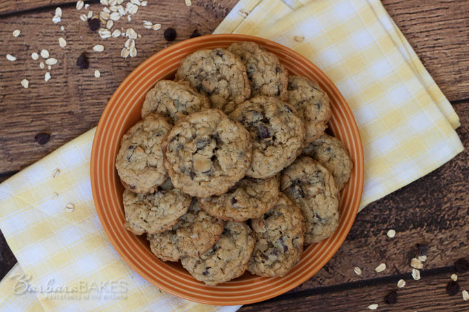 Perfect Chocolate Chip Oatmeal Cookie Recipe from Barbara Bakes