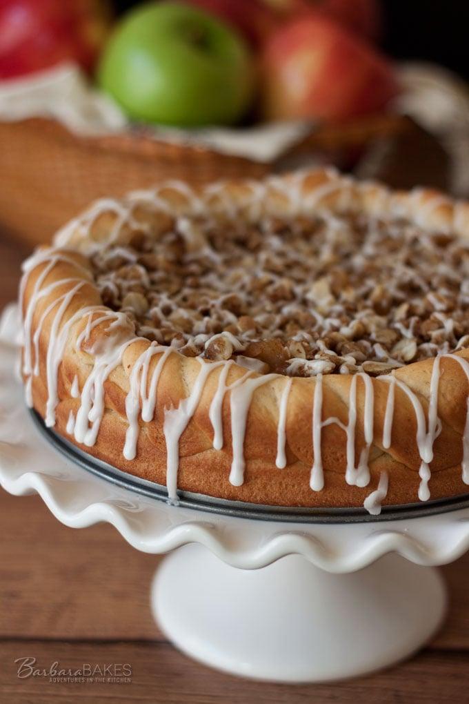 Apple Crisp Sweet Roll Coffee Cake recipe from Barbara Bakes #BakingTheWorldBetter