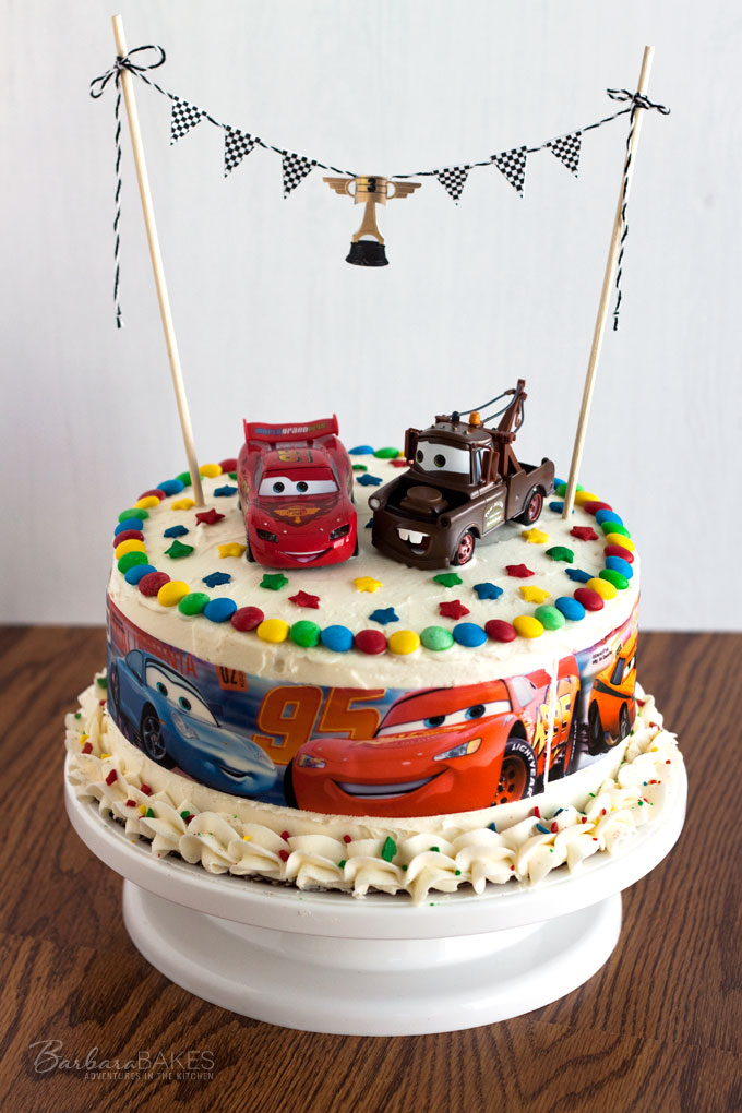 Cars Birthday Cake from Barbara Bakes - Fun and easy to make!
