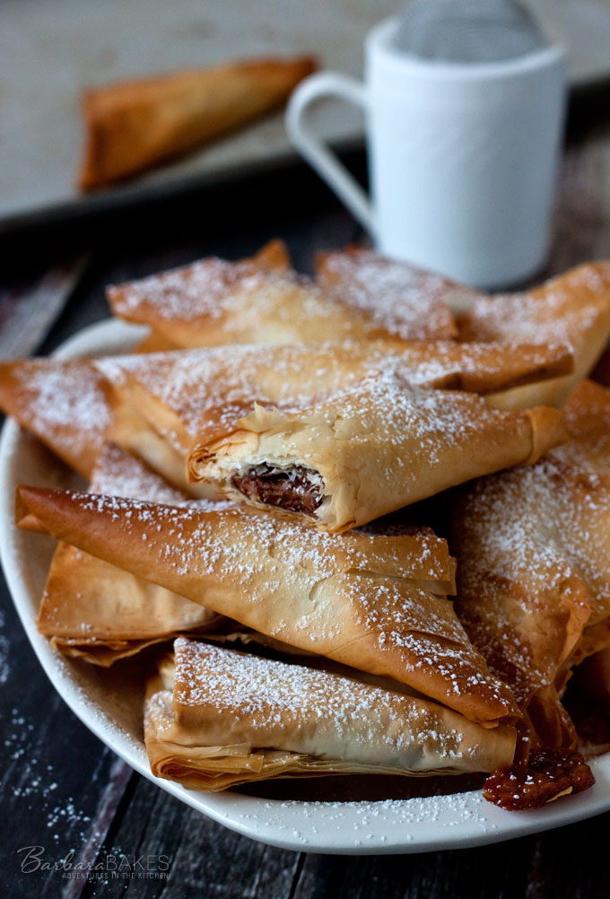 Easy to Make Simply Caramel and Chocolate Turnovers from Barbara Bakes