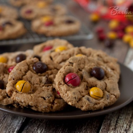 Flourless-Peanut-Butter-Chocolate-Chip-Cookies