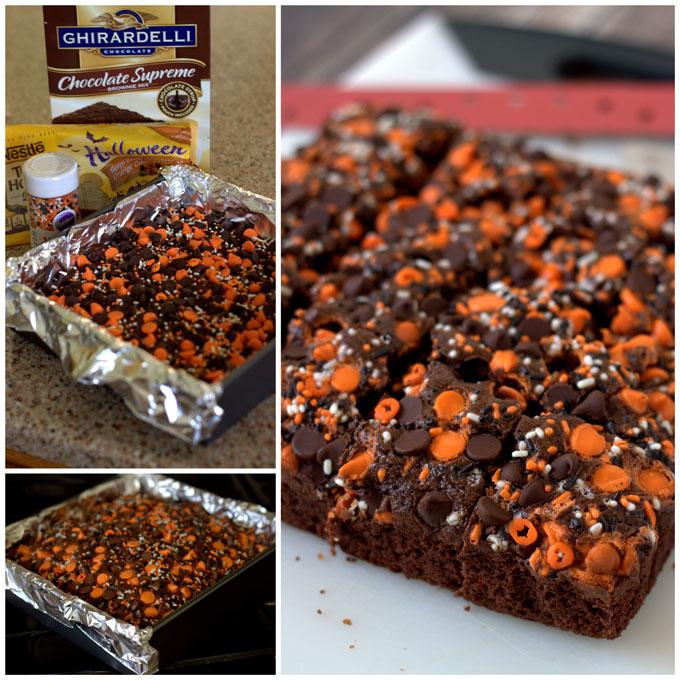 Halloween Pumpkin Brownies - Barbara Bakes™
