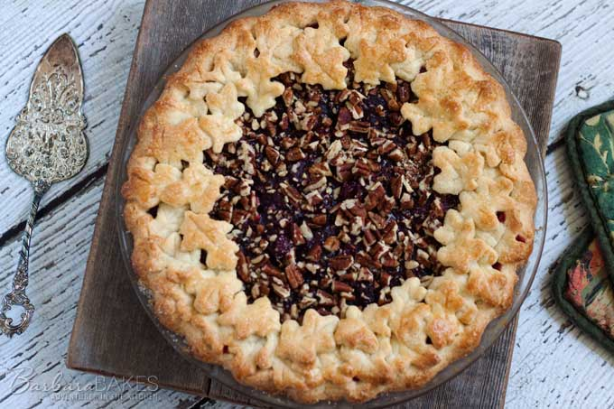 Cranberry Pecan Pie is an easy-to-make pie made from fresh cranberries ...