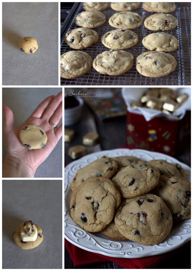 How to make Orange Cranberry White Chocolate Stuffed Cookies