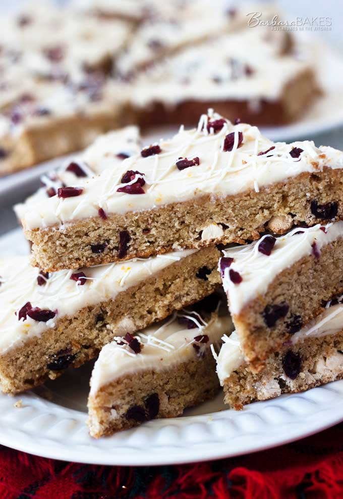 White Chocolate Cranberry Orange Bars - if you love Starbucks Cranberry Bliss Bars, you'll love these.