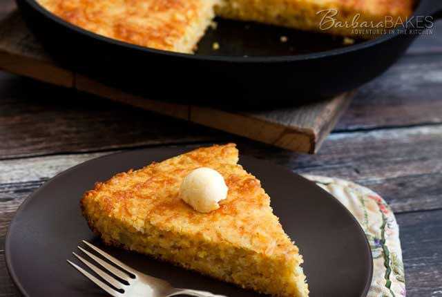 Cheesy Green Chile Cornbread recipe from Barbara Bakes