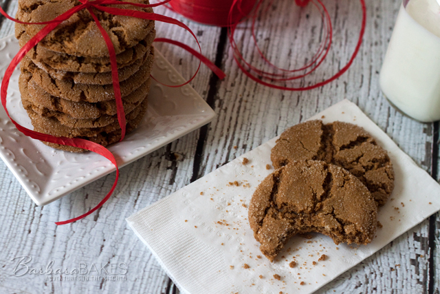Soft Gingersnap Cookies from Barbara Bakes