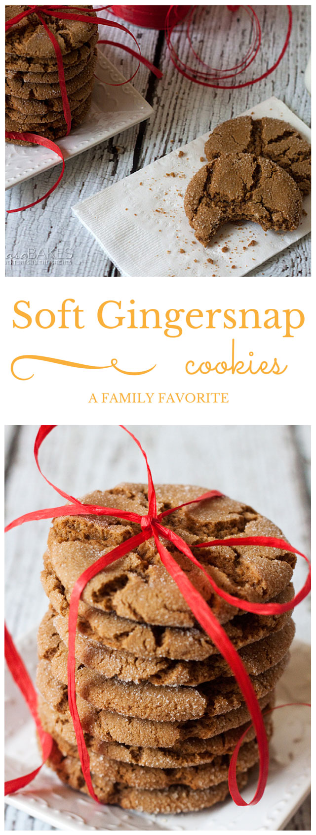 Soft Gingersnap Cookies - A Family Favorite
