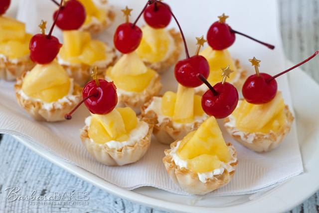 No-Bake Pina Colada Cheesecake Bites recipe from Barbara Bakes.