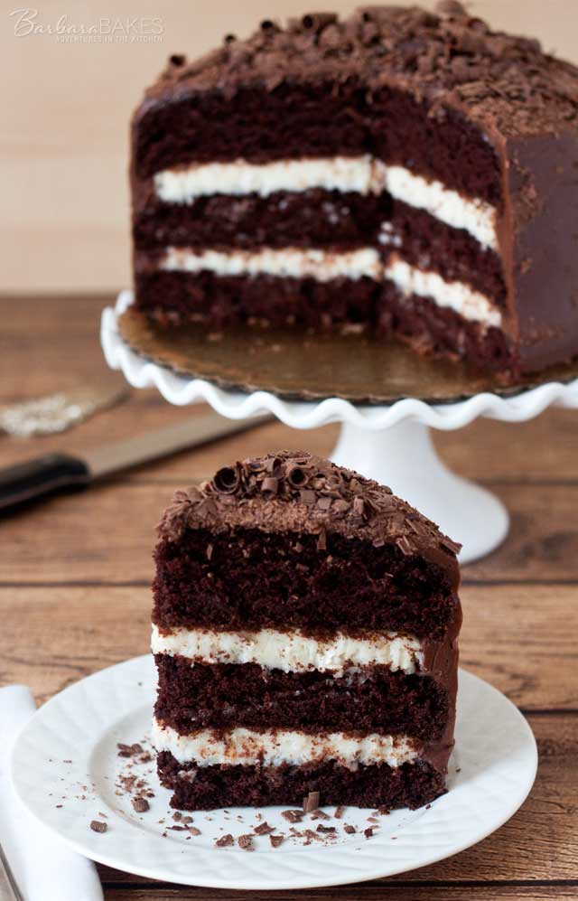 Mocha Layer Cake With Chocolate-Rum Cream Filling Recipe — Dishmaps