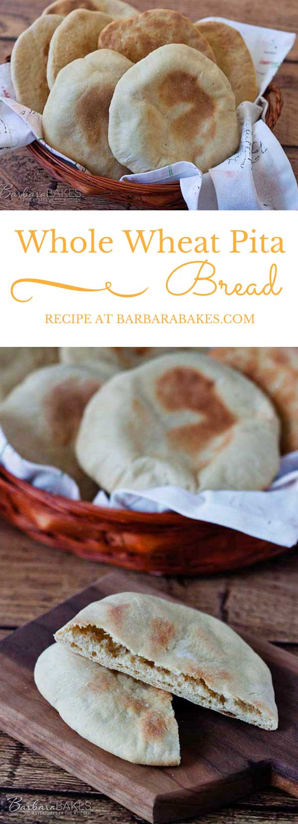 Pita bread is a soft easy-to-make flat bread made from a yeast bread dough, rolled thin, then baked at a high temperature so it puffs up as it bakes.