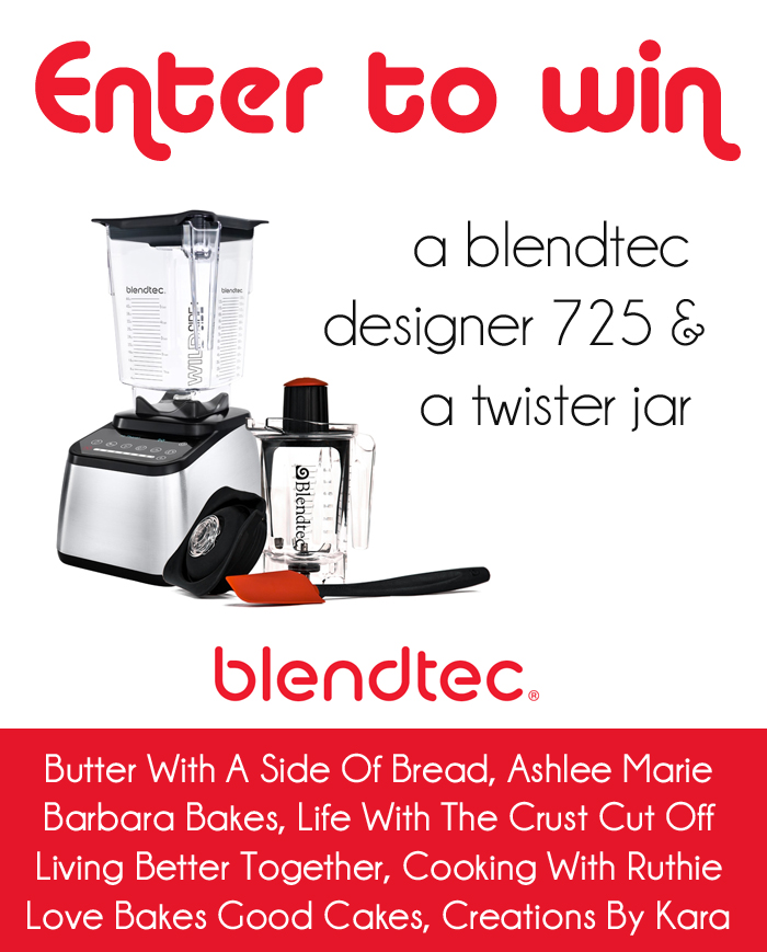 Blendtec Giveaway and a Blender Recipe Roundup from Barbara Bakes