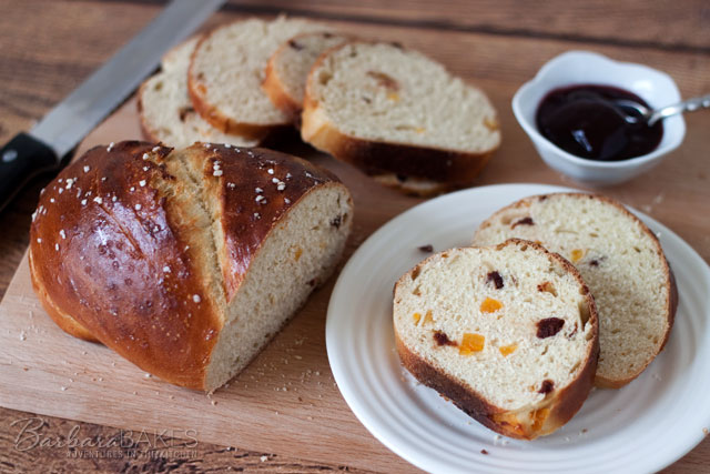 Apricot Cherry Breakfast Bread recipe from Barbara Bakes