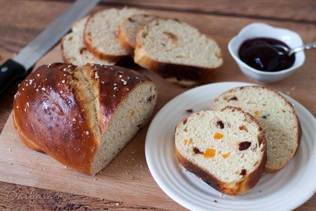 Apricot Cherry Breakfast Bread recipe from Barbara Bakes