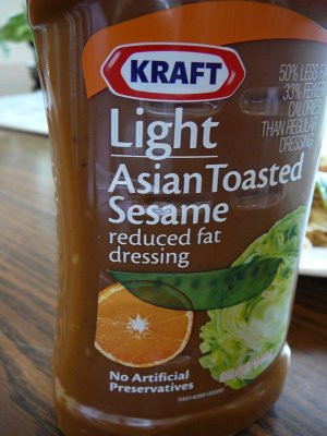 Krarft Light Asian Toasted Sesame reduced fat dressing