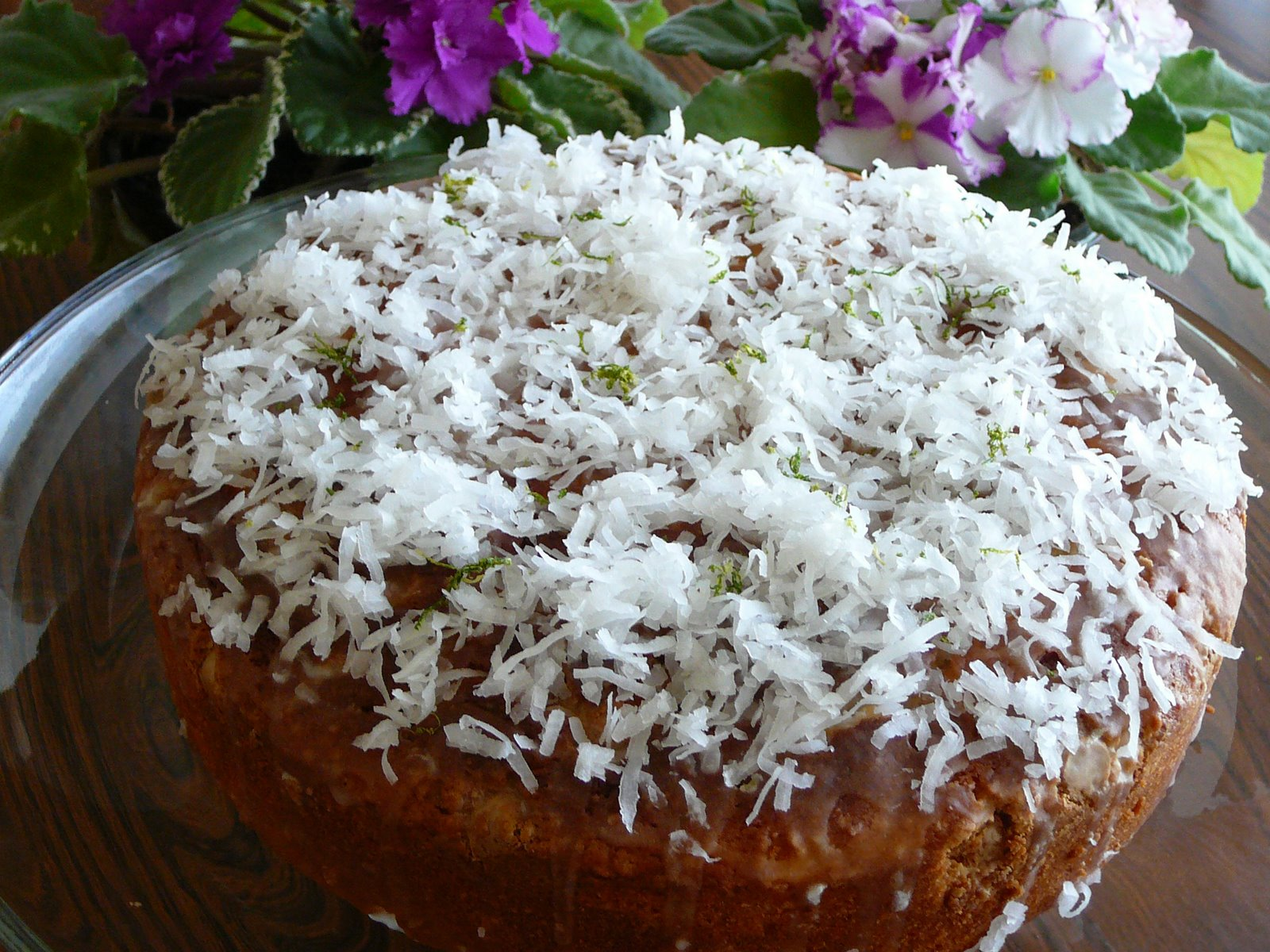 Coconut Lime White Chocolate Chip Cake